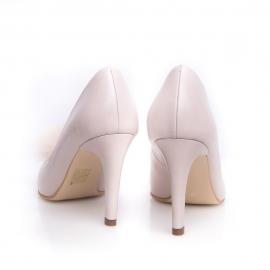 Pantofi stiletto cu pompon PUF 3