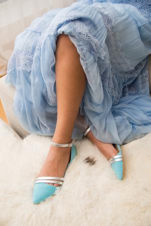 Pantofi de mireasa cu talpa joasa