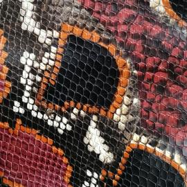 Multicolor snake print