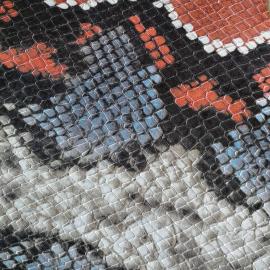 Bleu-portocaliu snake print