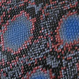 Bleu-roz snake print