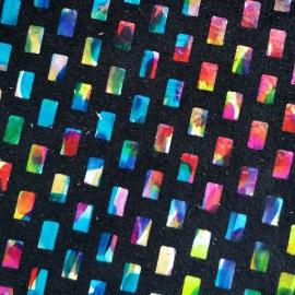 Negru cu patrate multicolore 55