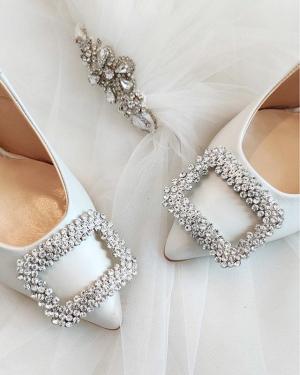 Pantofi albi de mireasa 2