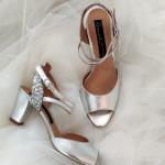 Sandale de mireasa cu toc mic 2
