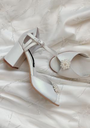 Sandale de mireasa cu toc mic