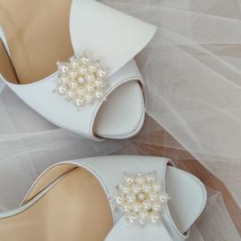 Sandale mireasa deosebite cu platforma si bijuterie 2